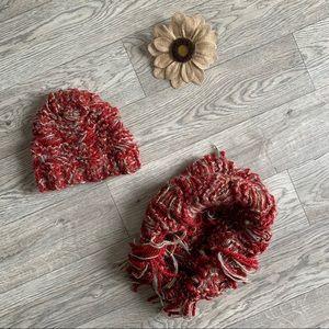 Cute scarf and beanie set